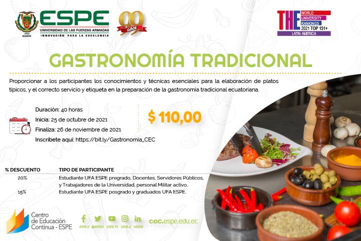 Gastronomía Tradicional @ Universidad de las Fuerzas Armadas ESPE