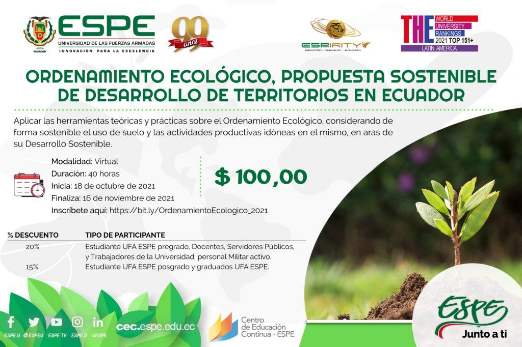 Ordenamiento Ecológico, Propuesta Sostenible de Desarrollo de Territorios en Ecuador